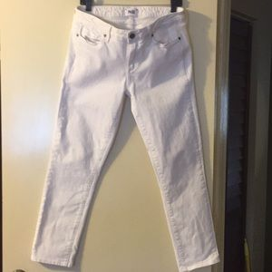 Paige skyline skinny white jeans.